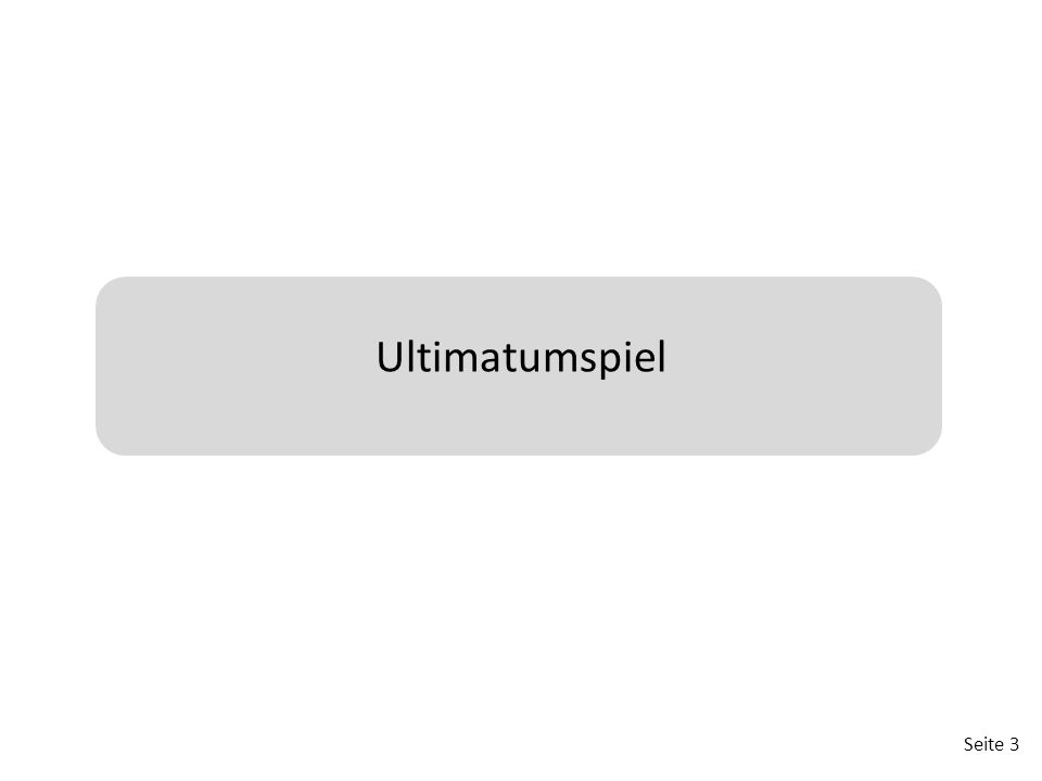 Ultimatumspiel