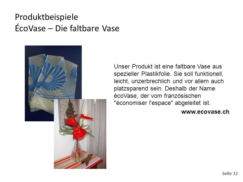 Produktbeispiele ÉcoVase – Die faltbare Vase