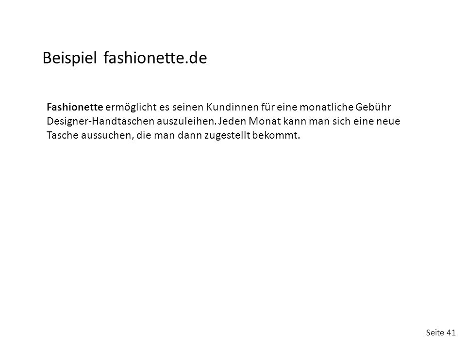 Beispiel fashionette.de