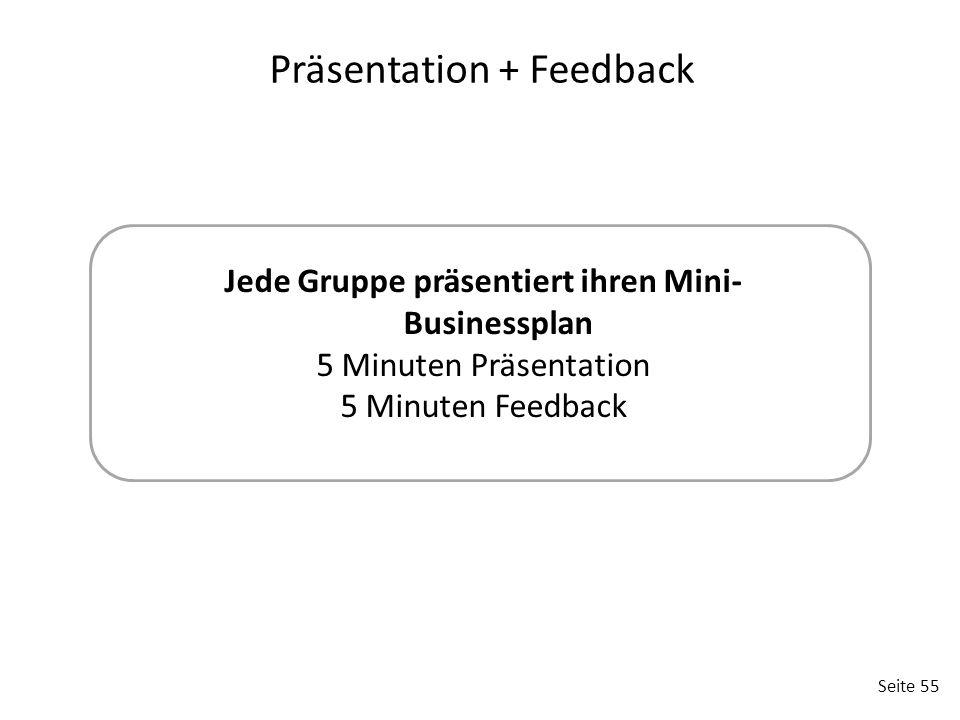 Präsentation + Feedback