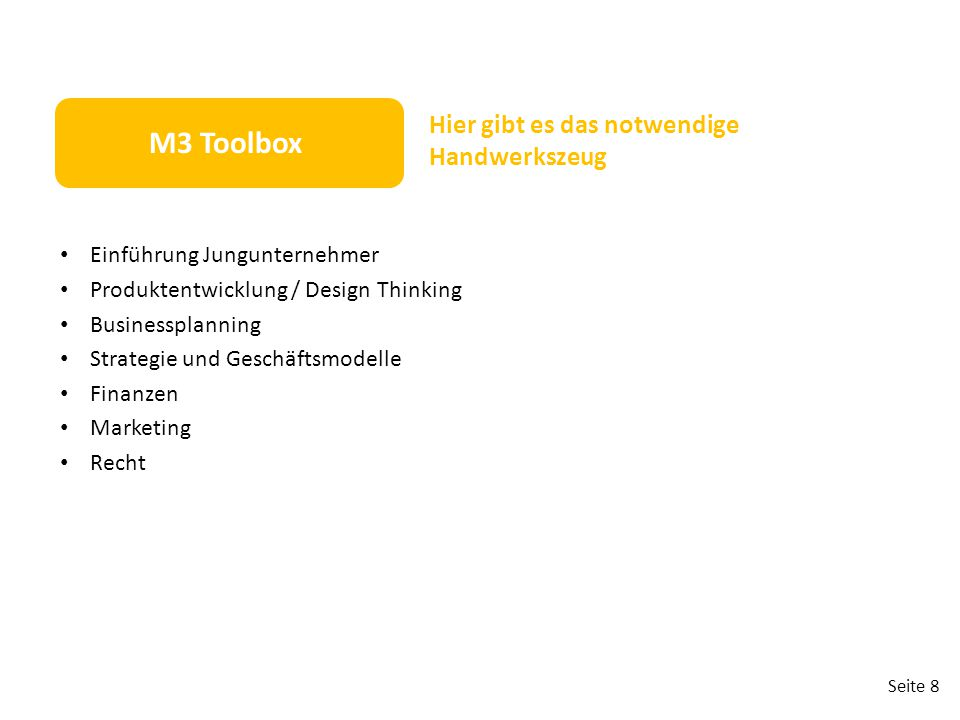 M3 Toolbox Hier gibt es das notwendige Handwerkszeug