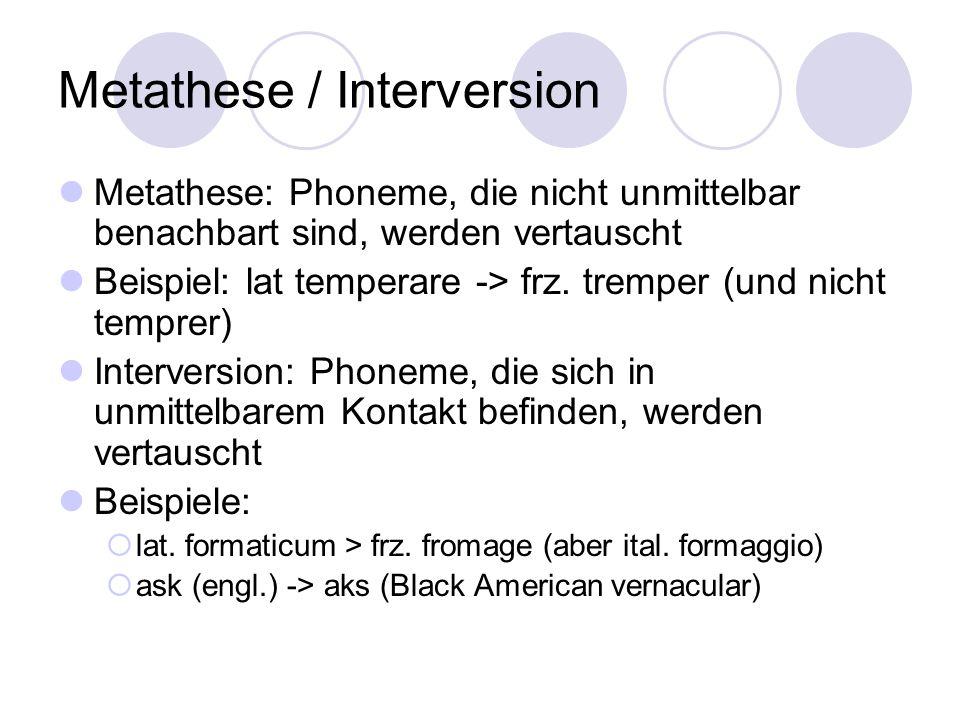 Metathese / Interversion