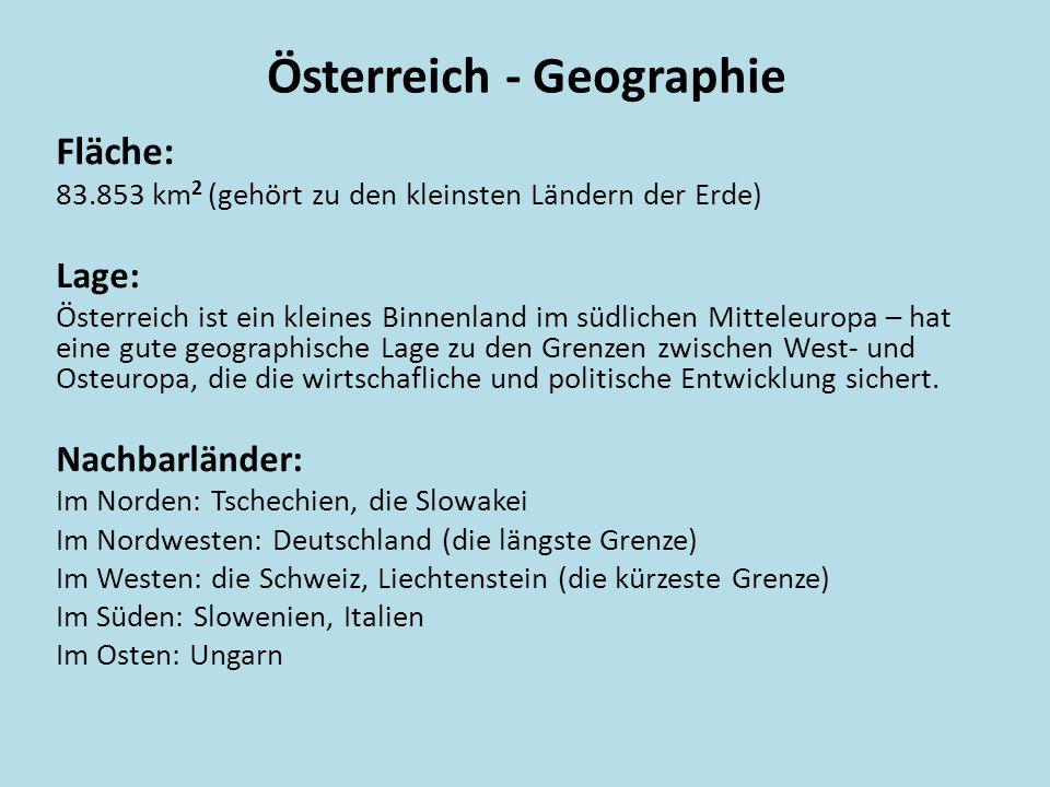 Österreich - Geographie