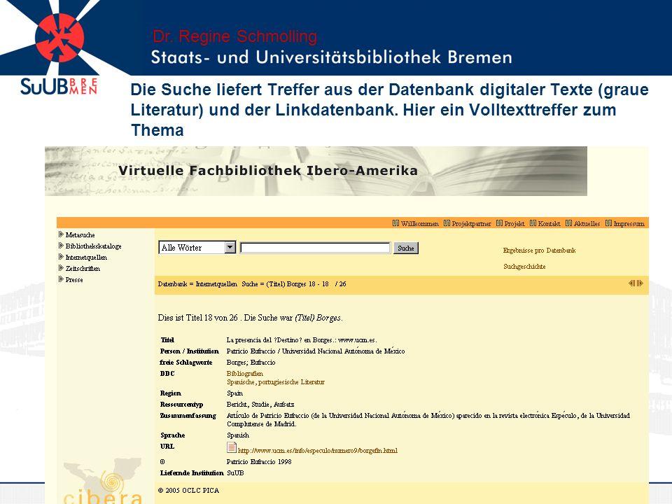 Dr. Regine Schmolling
