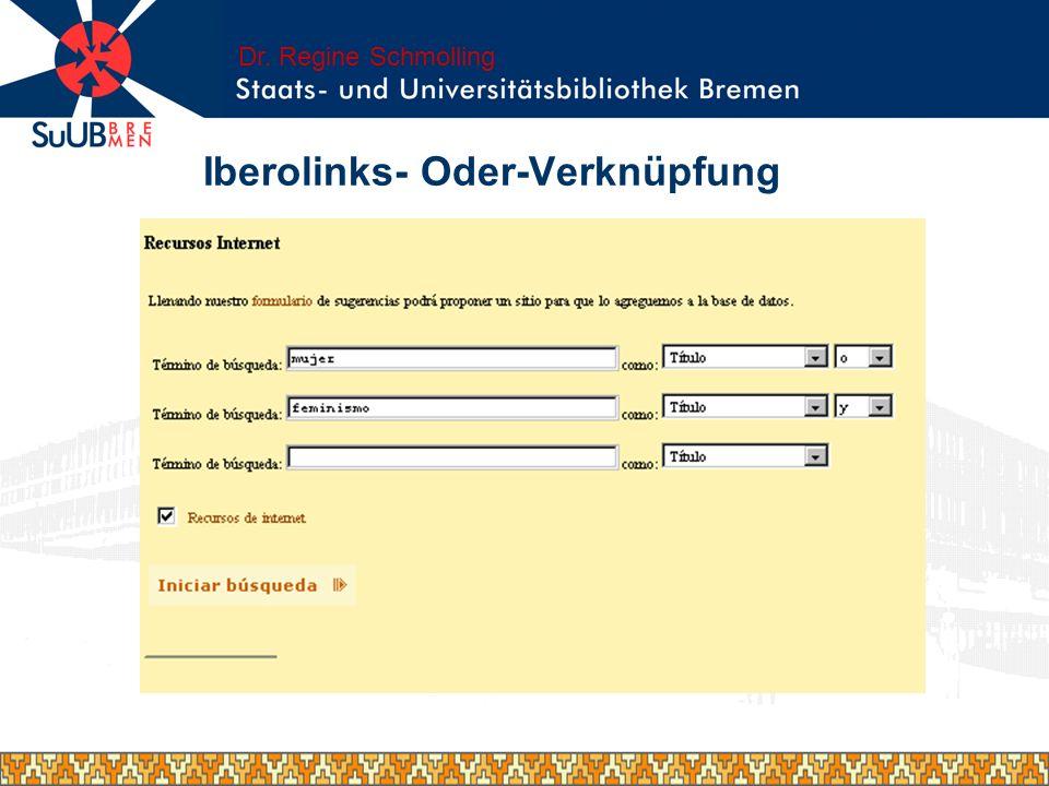 Iberolinks- Oder-Verknüpfung
