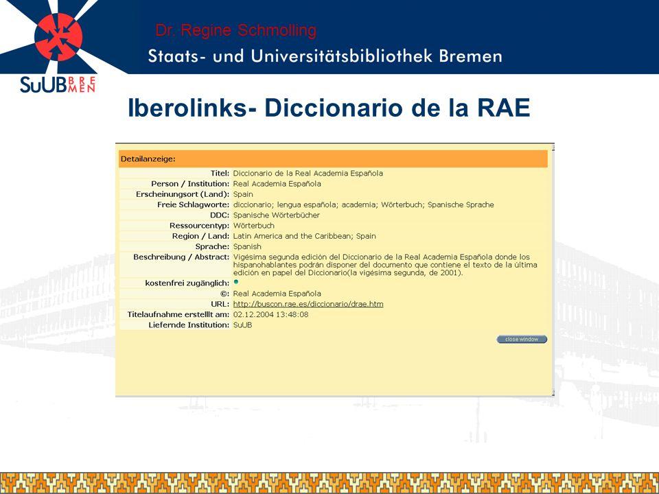 Iberolinks- Diccionario de la RAE