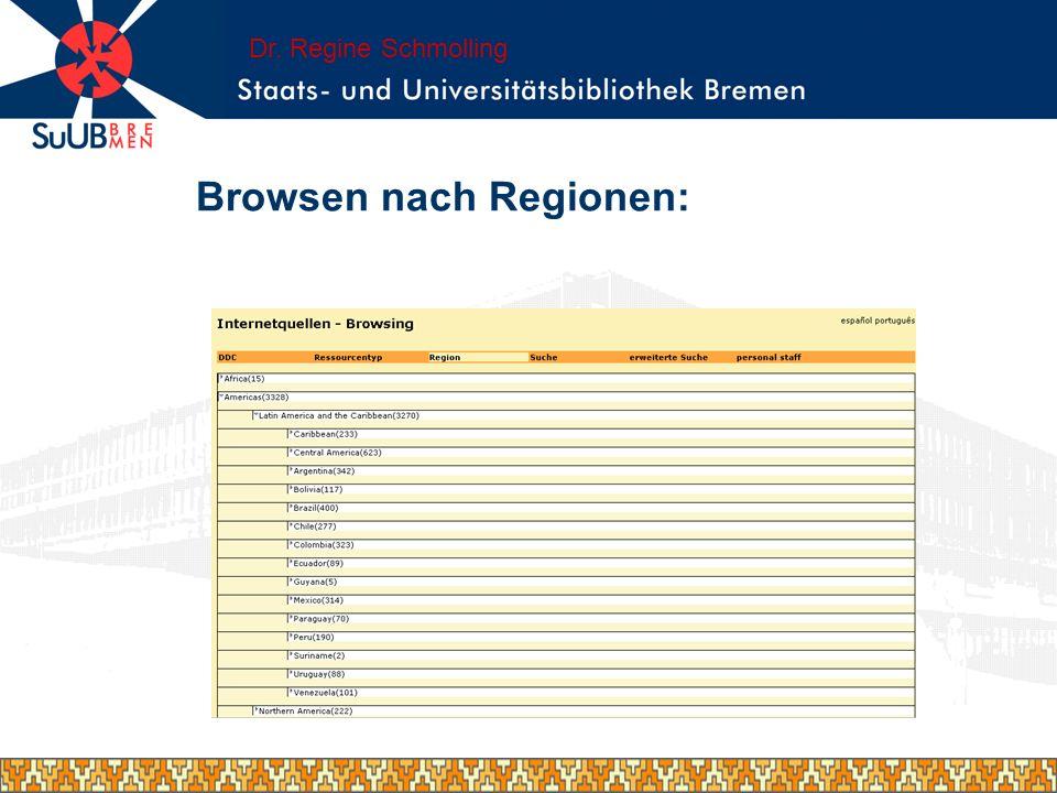 Browsen nach Regionen: