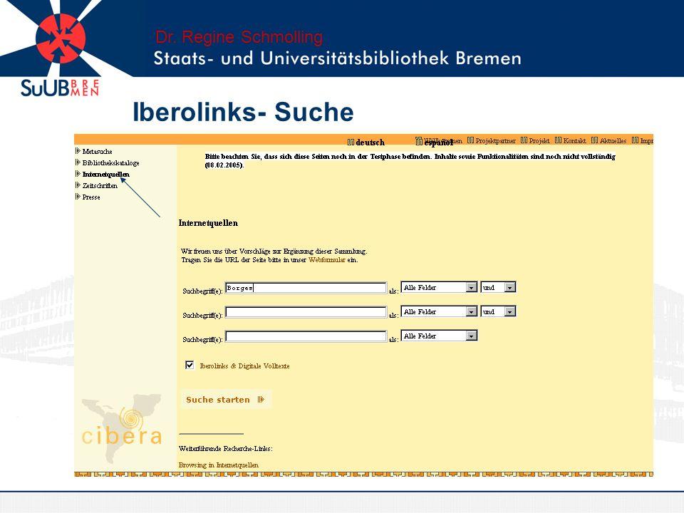 Dr. Regine Schmolling Iberolinks- Suche