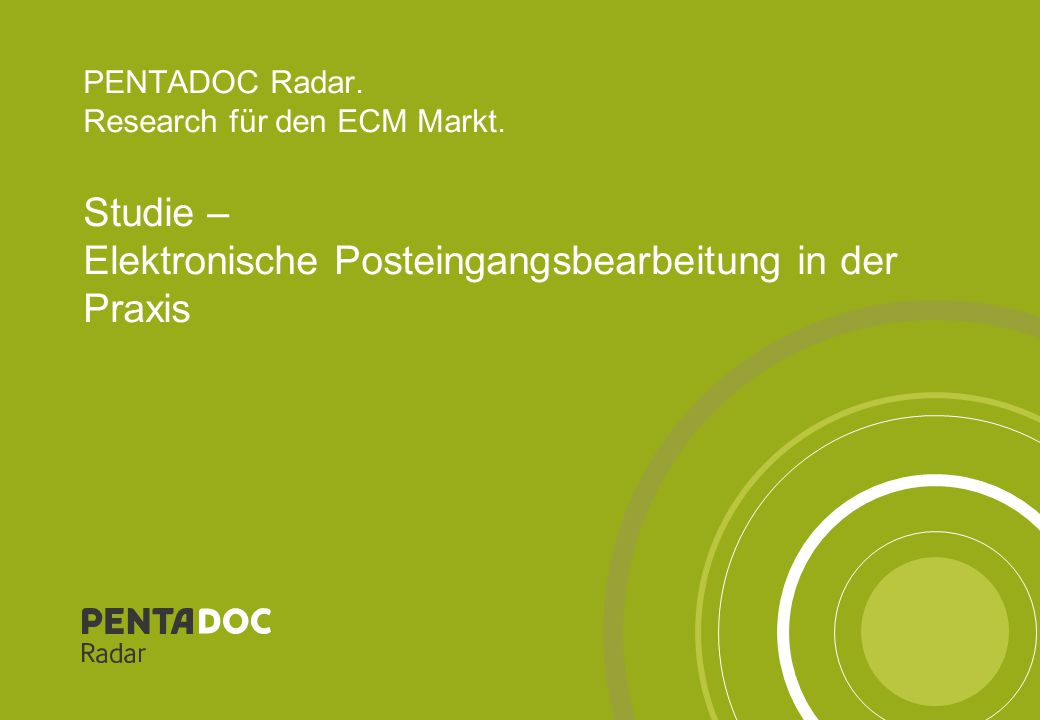 PENTADOC Radar. Research für den ECM Markt