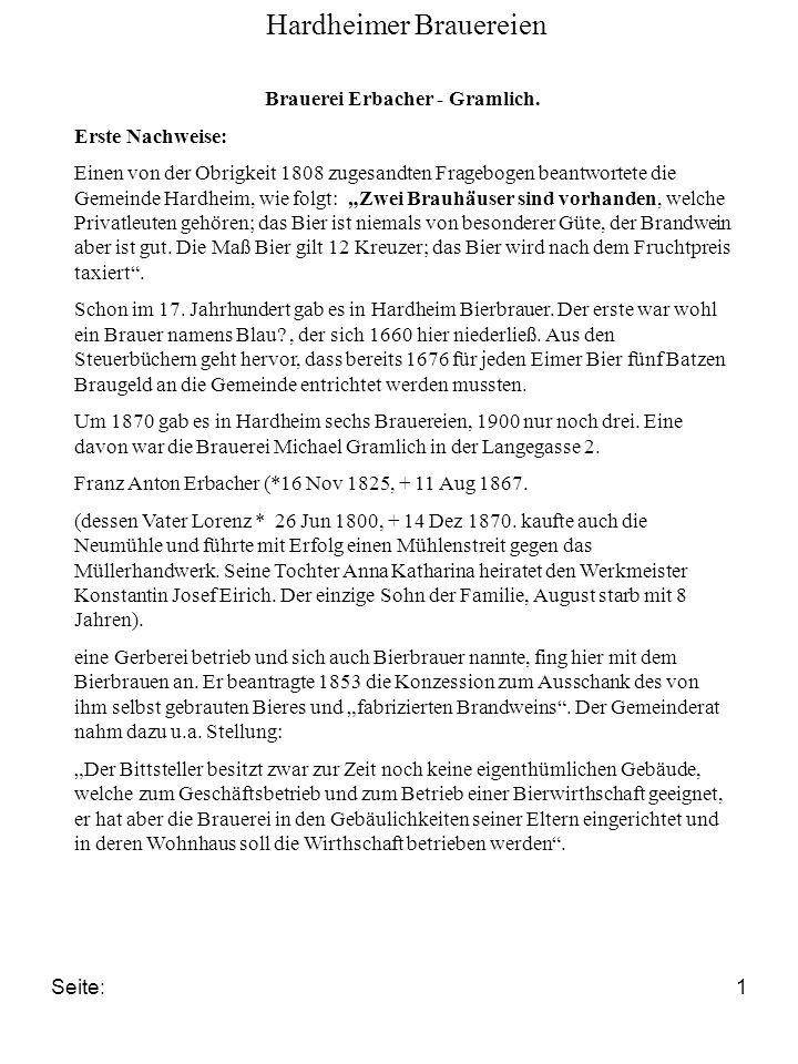 Brauerei Erbacher - Gramlich.