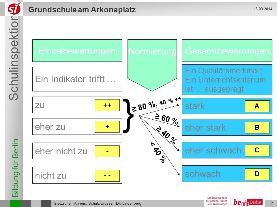 } Einzelbewertungen Normierung Gesamtbewertungen