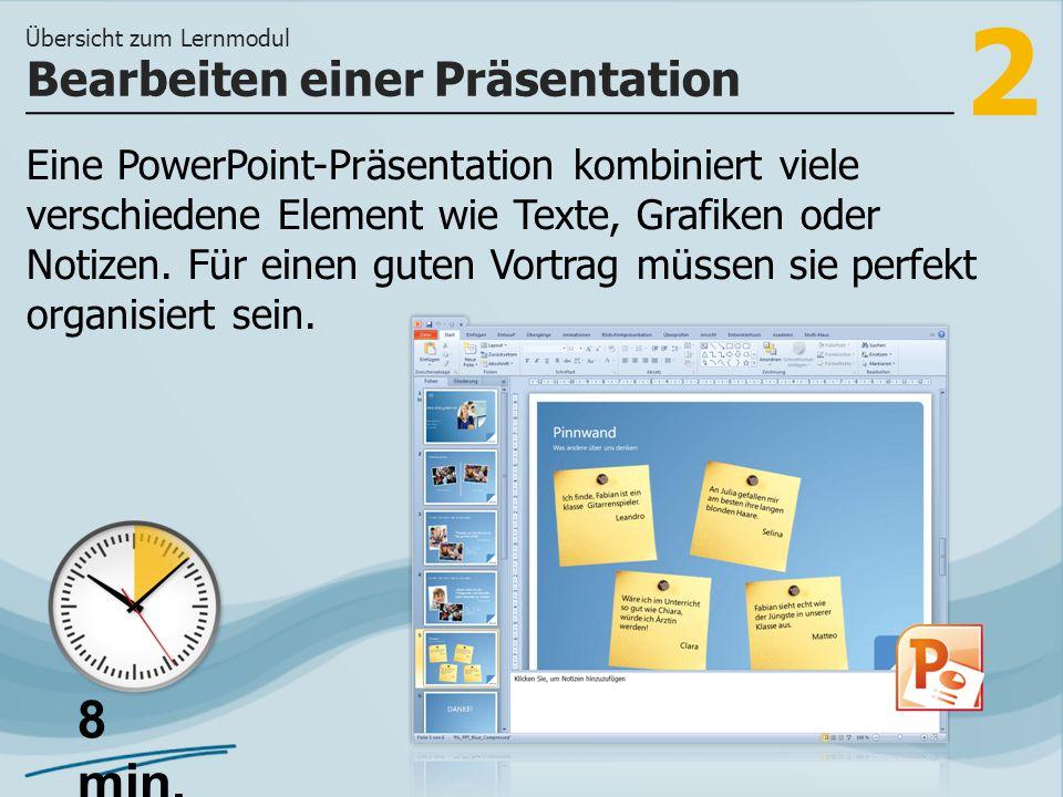 Bearbeiten einer Präsentation