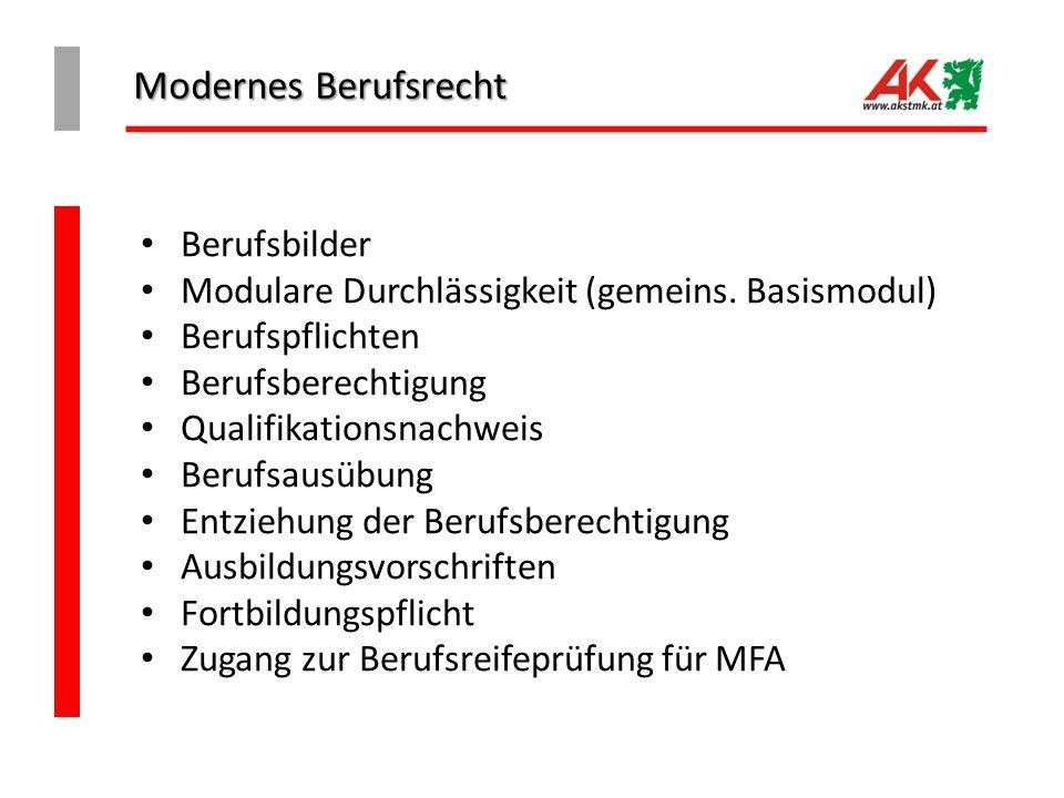 Modernes Berufsrecht Berufsbilder