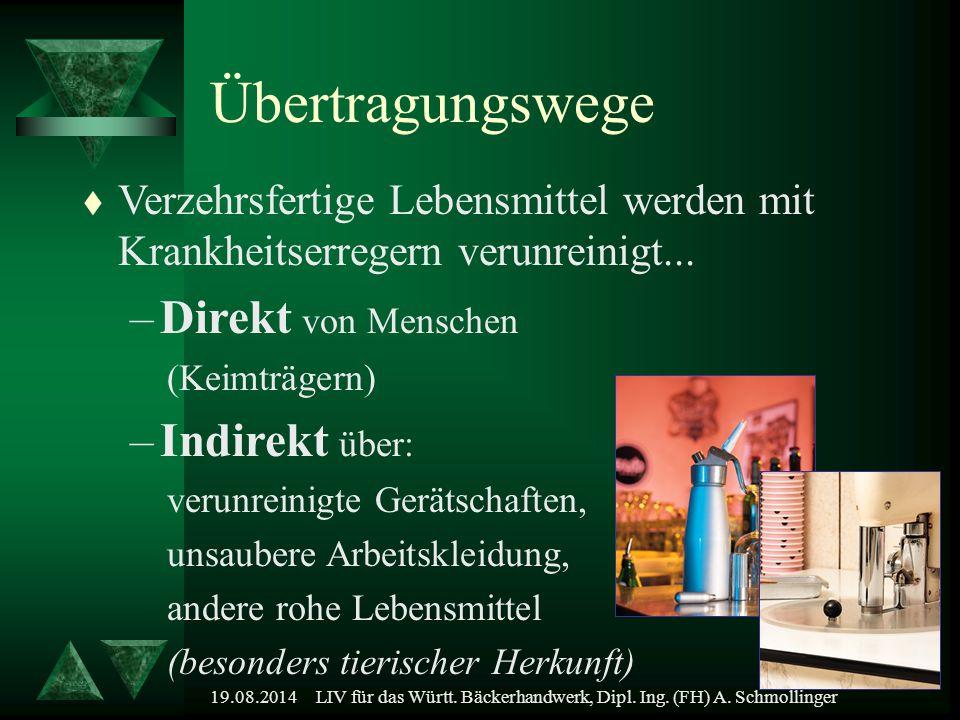LIV für das Württ. Bäckerhandwerk, Dipl. Ing. (FH) A. Schmollinger