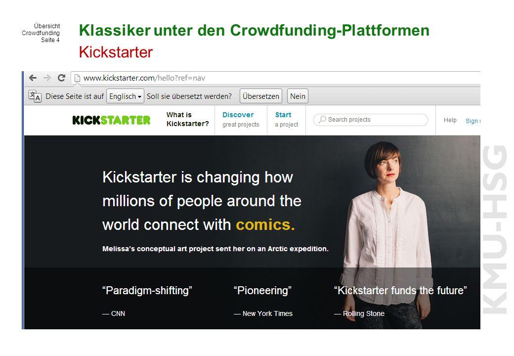 Klassiker unter den Crowdfunding-Plattformen