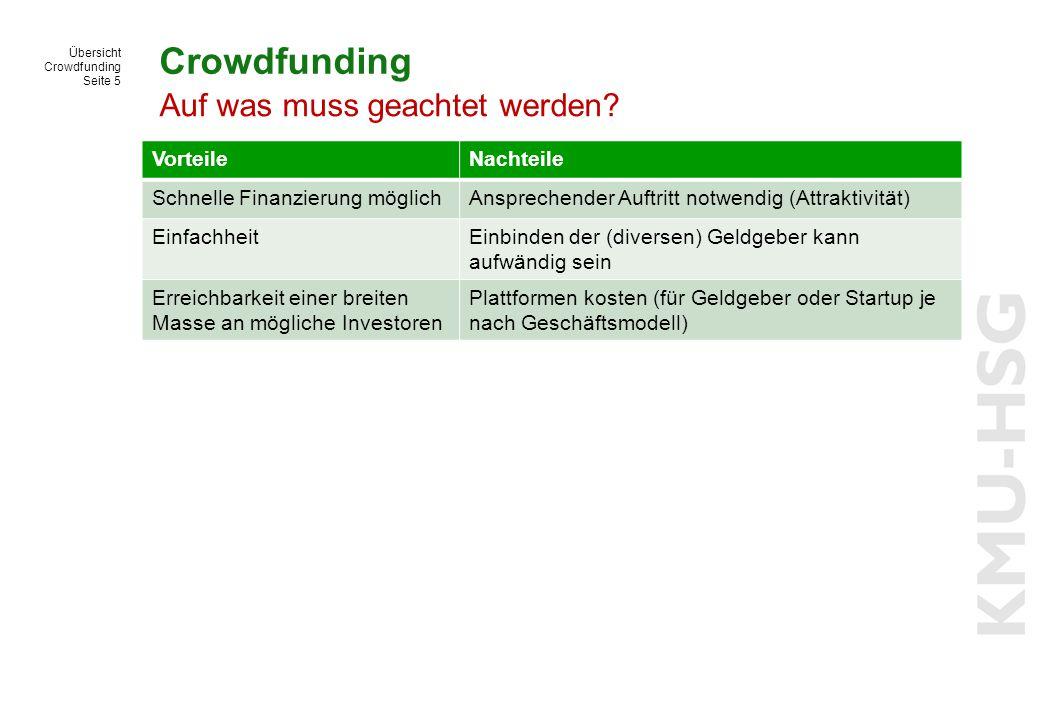 Crowdfunding Auf was muss geachtet werden Vorteile Nachteile