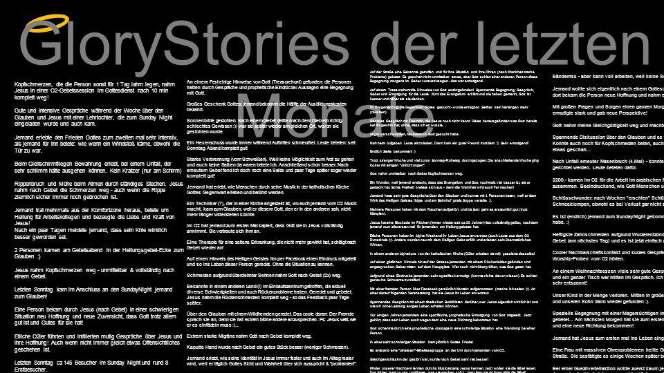 GloryStories der letzten Monate