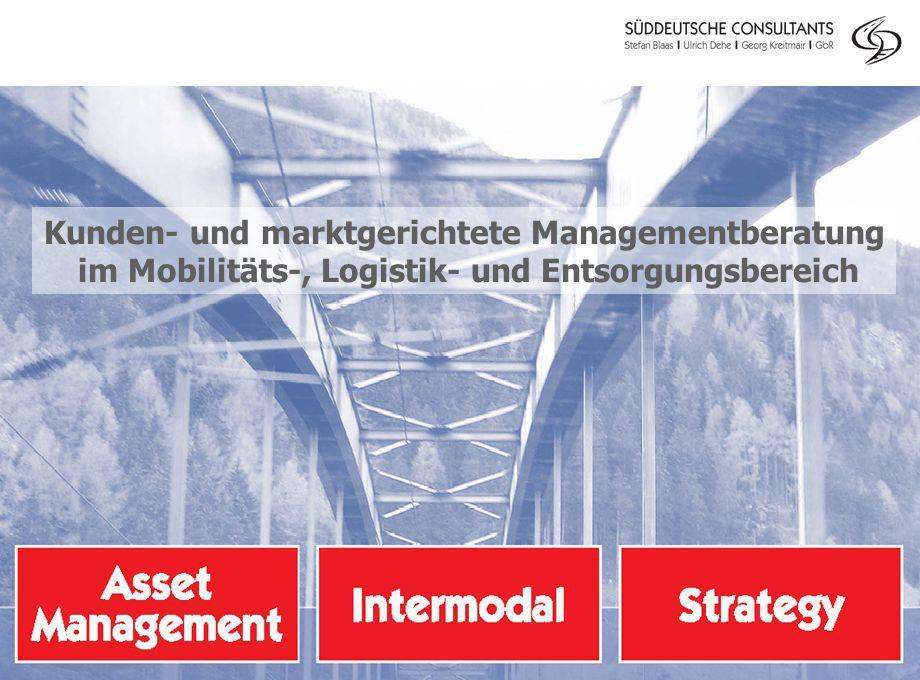 Kunden- und marktgerichtete Managementberatung im Mobilitäts-, Logistik- und Entsorgungsbereich
