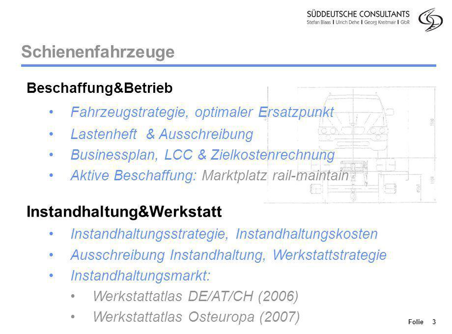 Schienenfahrzeuge Instandhaltung&Werkstatt Beschaffung&Betrieb