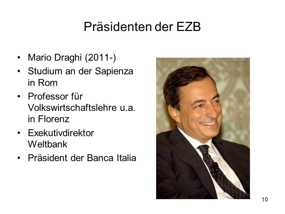 Präsidenten der EZB Mario Draghi (2011-)