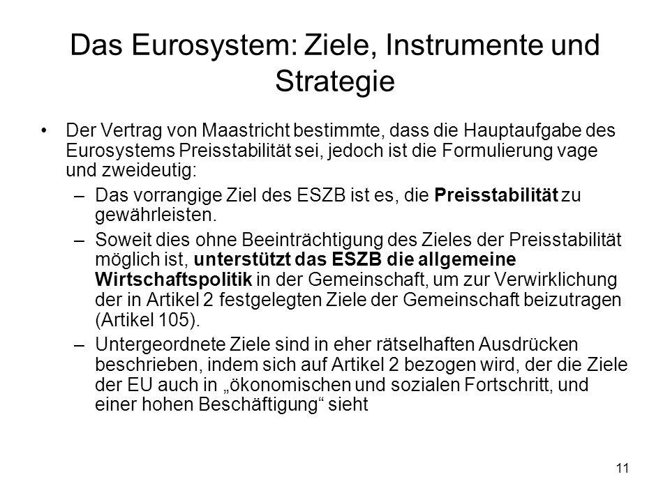 Das Eurosystem: Ziele, Instrumente und Strategie