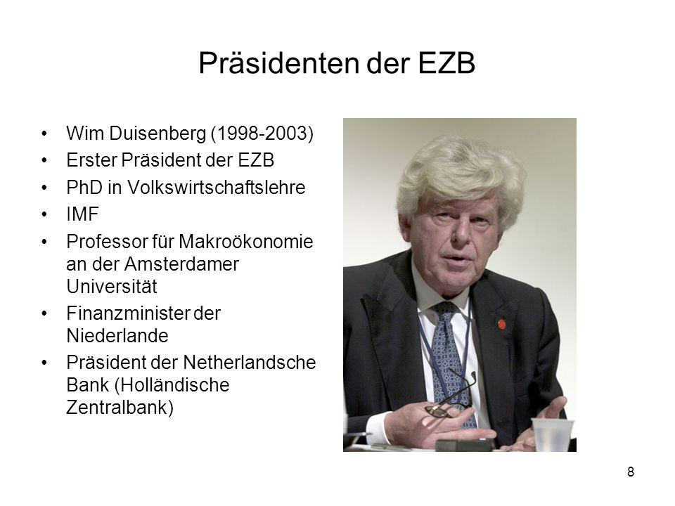 Präsidenten der EZB Wim Duisenberg (1998-2003)