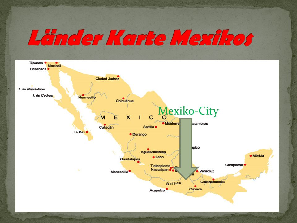 Länder Karte Mexikos Mexiko-City