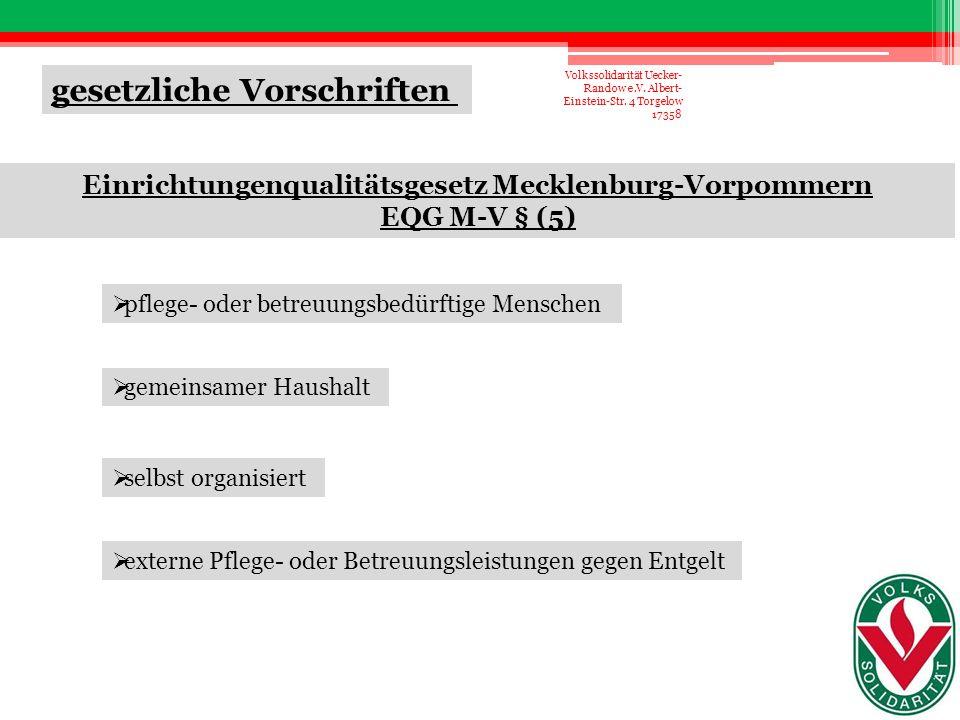 Einrichtungenqualitätsgesetz Mecklenburg-Vorpommern
