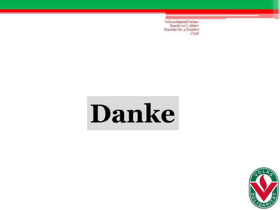 Volkssolidarität Uecker-Randow e. V. Albert-Einstein-Str