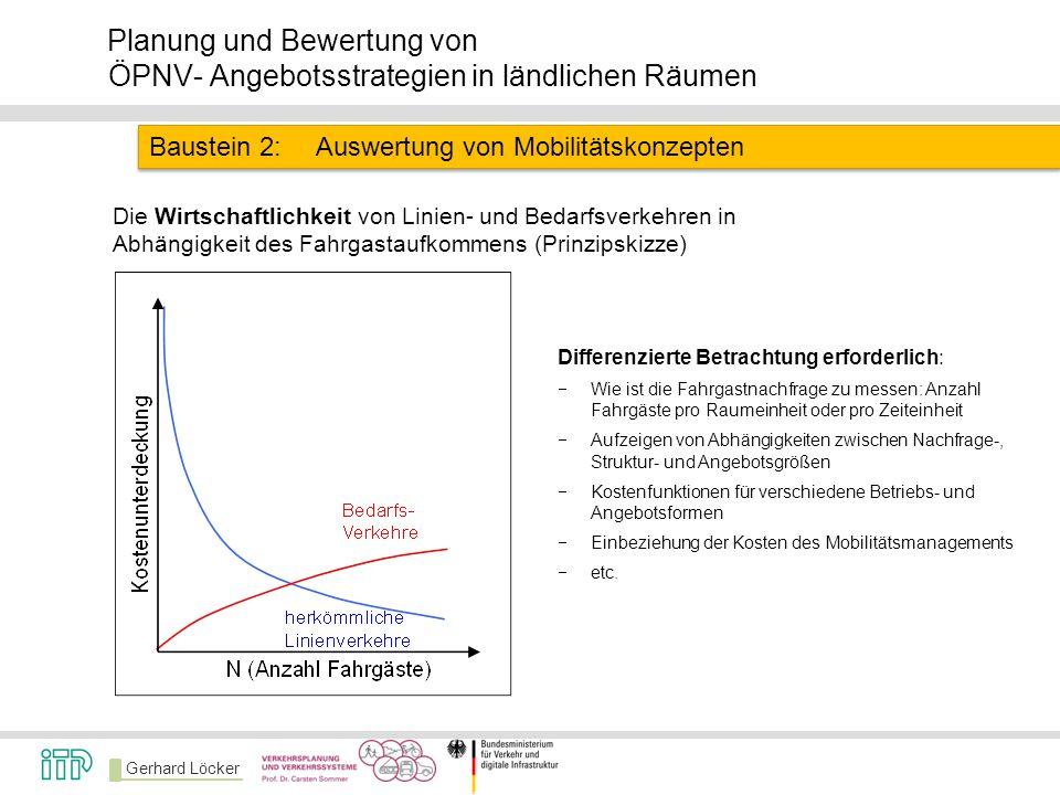 Baustein 2: Auswertung von Mobilitätskonzepten