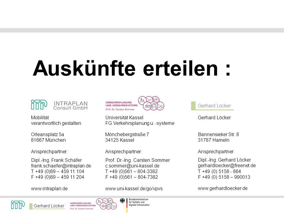 Auskünfte erteilen : Gerhard Löcker Mobilität verantwortlich gestalten