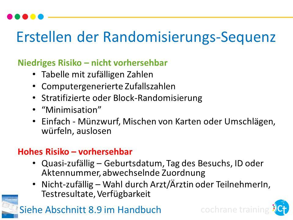 Erstellen der Randomisierungs-Sequenz