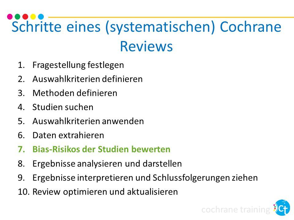Schritte eines (systematischen) Cochrane Reviews