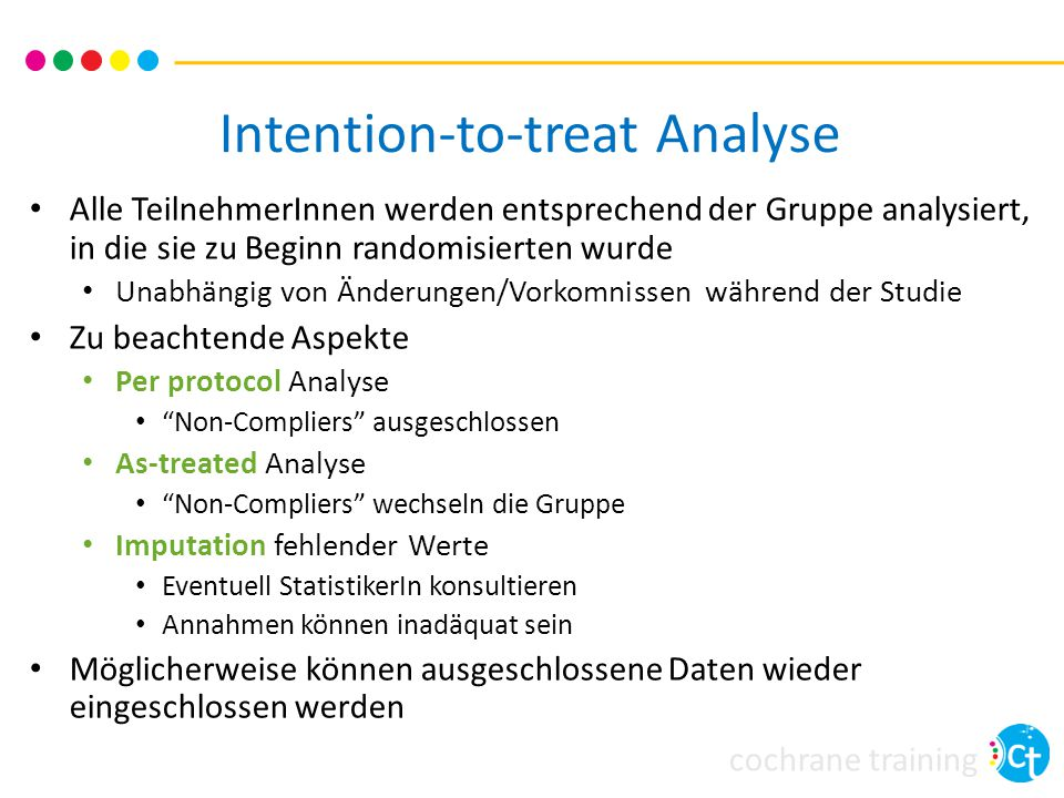 Intention-to-treat Analyse
