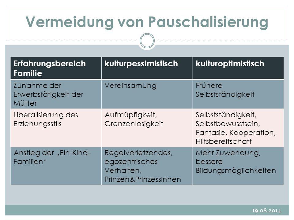 Vermeidung von Pauschalisierung