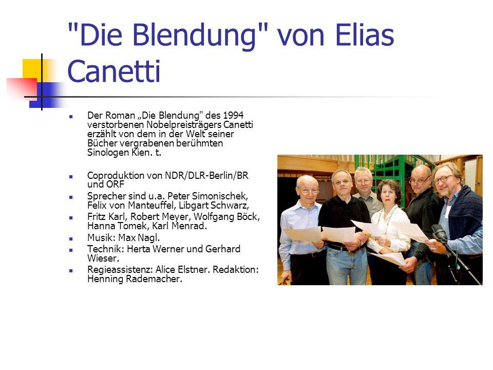 Die Blendung von Elias Canetti
