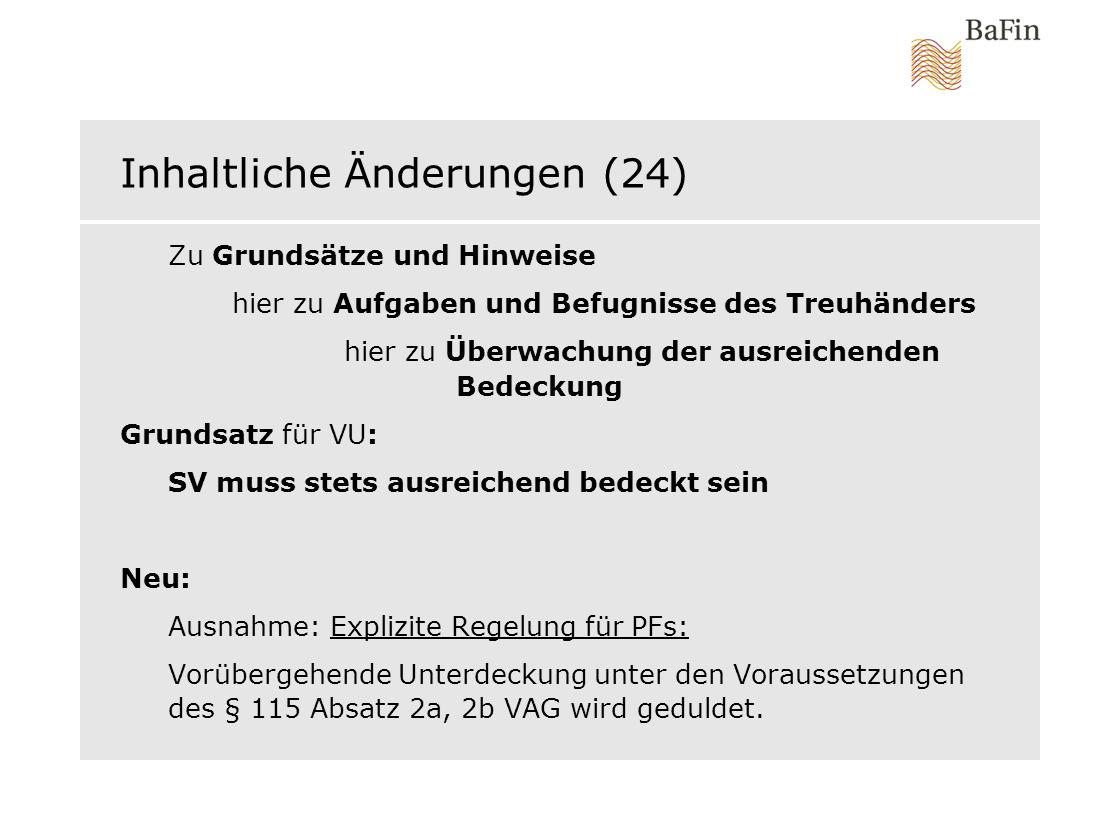 Inhaltliche Änderungen (24)