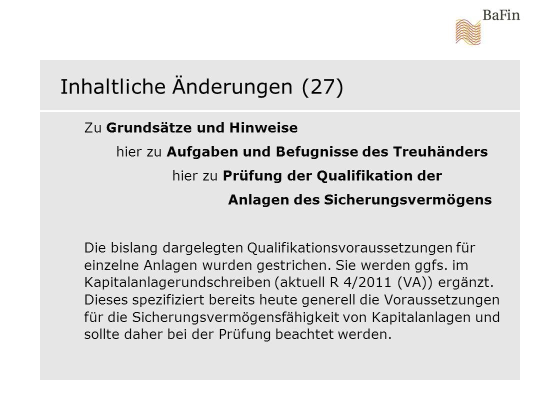 Inhaltliche Änderungen (27)
