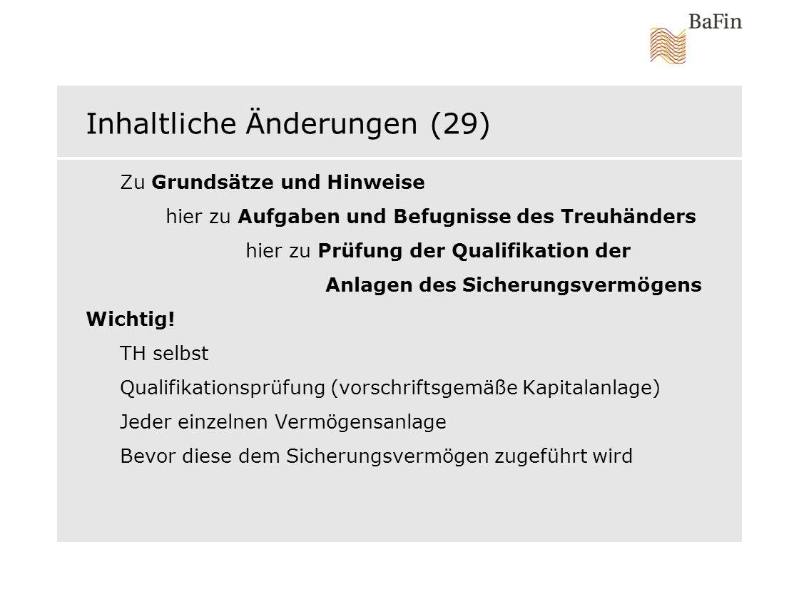 Inhaltliche Änderungen (29)