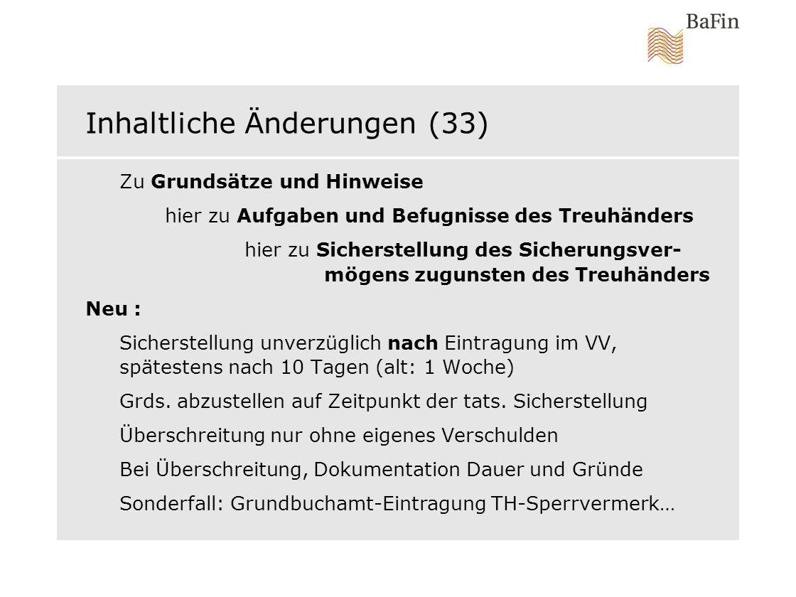 Inhaltliche Änderungen (33)