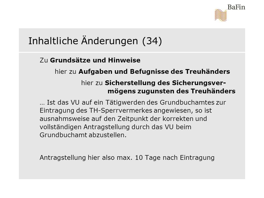 Inhaltliche Änderungen (34)