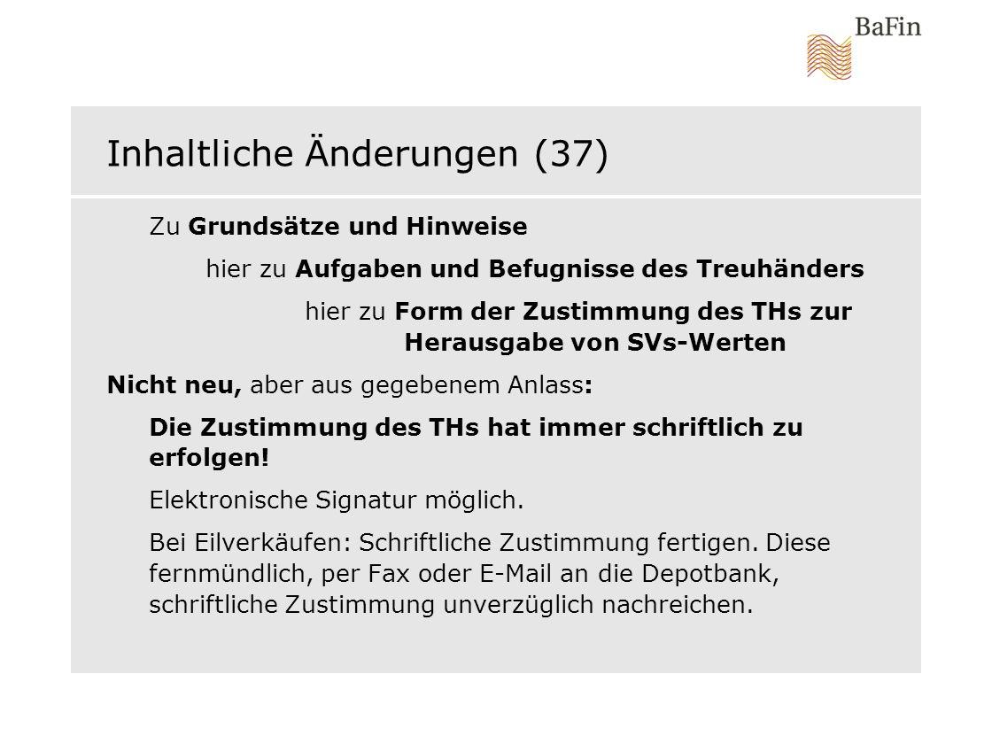 Inhaltliche Änderungen (37)