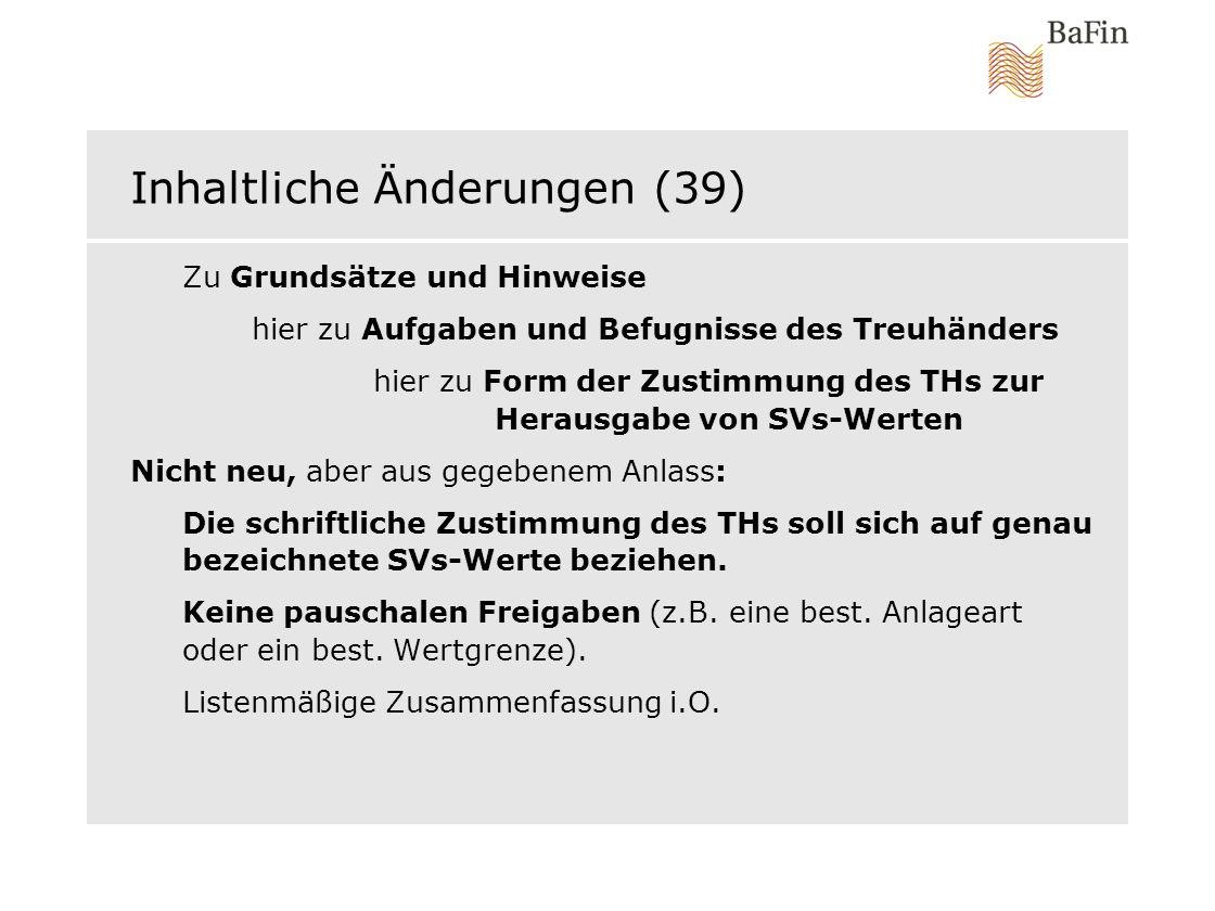 Inhaltliche Änderungen (39)