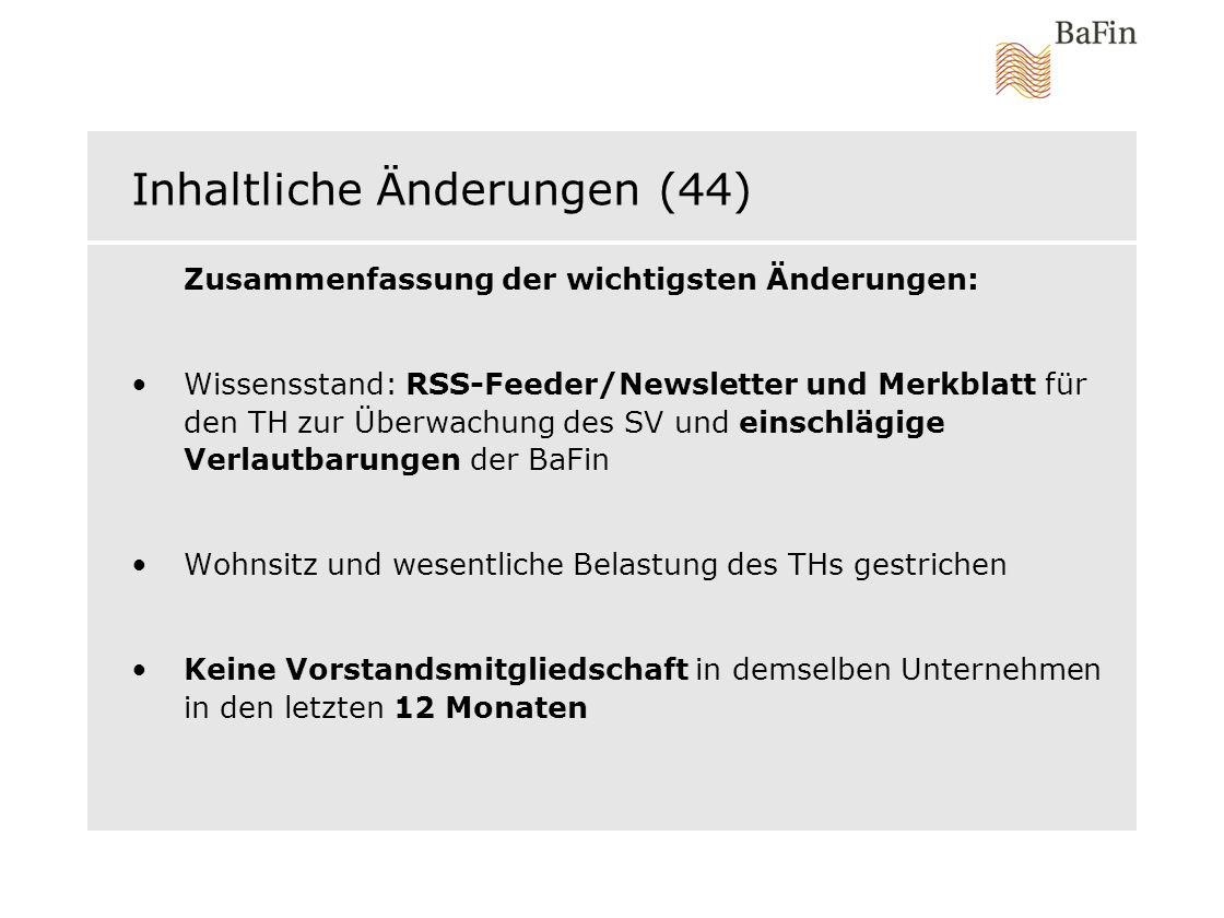 Inhaltliche Änderungen (44)