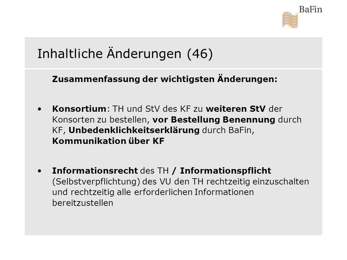 Inhaltliche Änderungen (46)