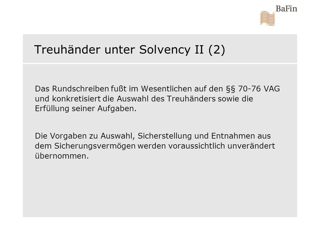 Treuhänder unter Solvency II (2)