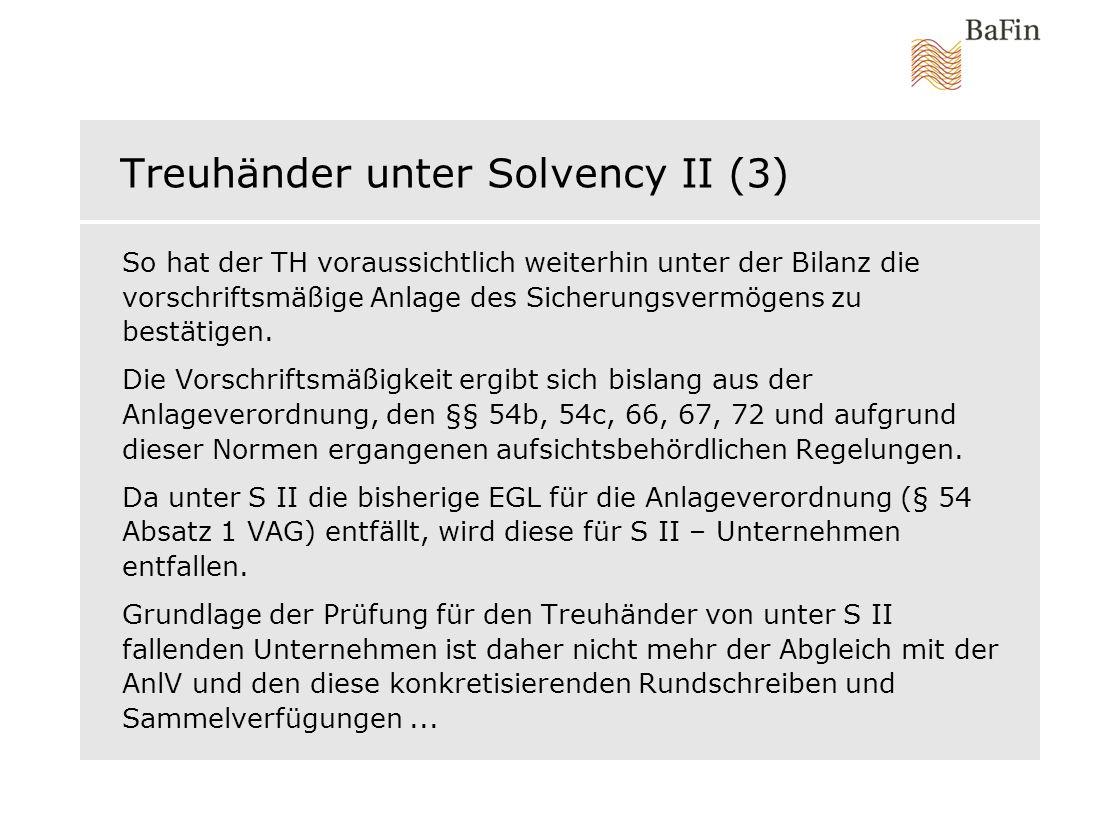 Treuhänder unter Solvency II (3)