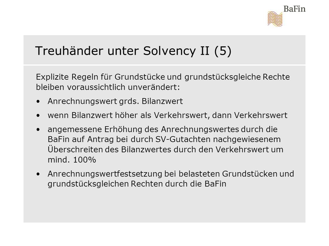 Treuhänder unter Solvency II (5)