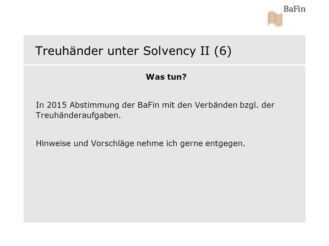 Treuhänder unter Solvency II (6)