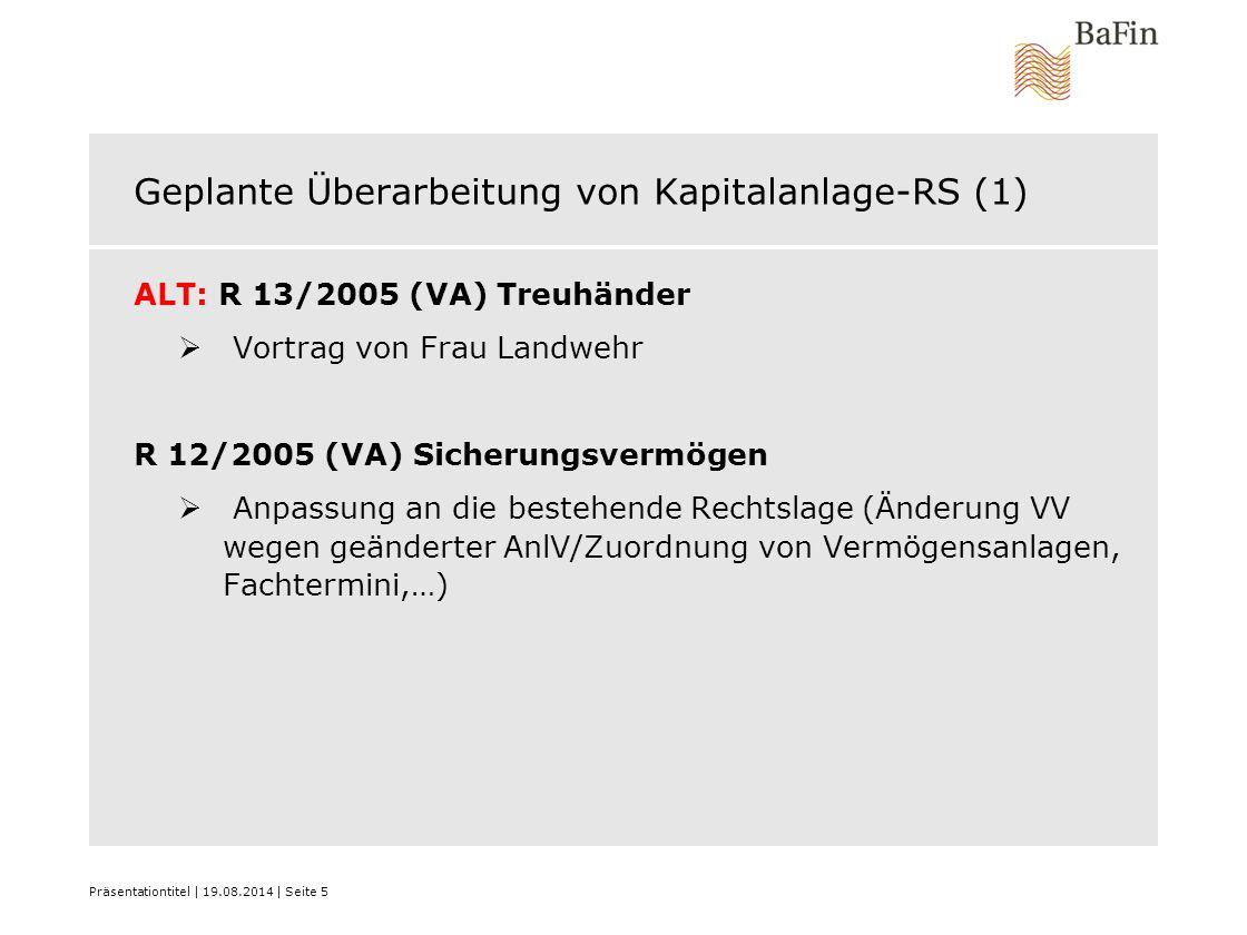 Geplante Überarbeitung von Kapitalanlage-RS (1)